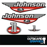 Johnson 70hp Two Stroke Outboard Engine Decals/sticker Kit