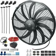 17 Inch 180w Electric Engine Radiator Cooling Fan Bar Toggle Switch Wiring Kit