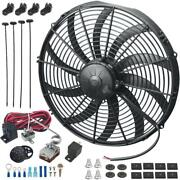 16 Inch 180w Electric Cooling Fan Adjustable Temperature Controller Switch Kit