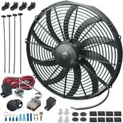 17 Inch 180w Electric Cooling Fan Adjustable Temperature Controller Switch Kit