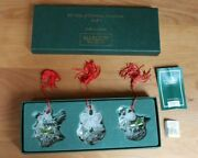 Marquis Waterford Crystal Set Of 3- 2nd In Series Ornaments 12 Days Of Christmas