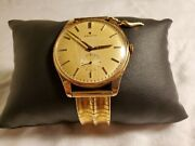 Vintage Solid Gold Swiss Made Zenith Manual Wind With Solid Gold Band 18k