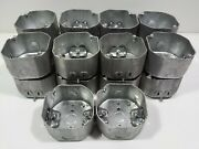 Steel City 4 2-1/8 Deep Octagon Boxes With Romex Clamps 54171-n Lot Of 18