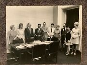 Signed Nixon Staff Stamped Official White House Photo 8x10 July 1 1970