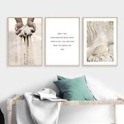 Healing Hands Motivational Quotes Wall Art Canvas Poster Print Home Style Decor