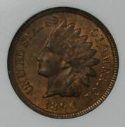1890 Indian Head Cent Anacs Ms64rb Collector Coin For Your Collection.