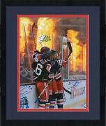Frmd Zuccarello Miller Shattenkirk Rangers Signed 16x20 Wc Goal And Flames Photo