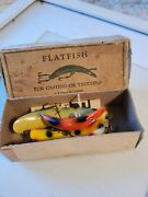 Vintage Flatfish Lures Helin Tackle Co. U-20 W/ 1box And Papers 1950s Patent Re4