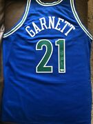 Kevin Garnett Signed Mitchell And Ness Authentic Jersey New Tags Timberwolves Coa