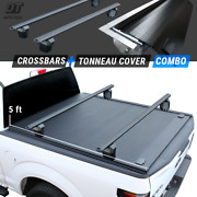 2016-2021 Tacoma 5ft Bed Tonneau Cover Retractable Roll Waterproof + Crossbars