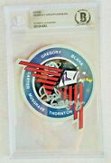 Fred Gregory John Blaha Nasa Astronauts Signed Sts-33 Decal Beckett Encased