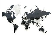 Multi-level Map Of The World Snowy 3d Wall Art Decor Stylish Home Decoration
