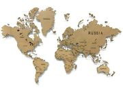 Single-level Map Of The World Plain Color Wall Art Decor Office Home Decoration
