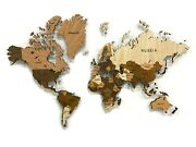 Map Mosaic Made Of High Quality Wood 3d Wall Art Decor Office Home Decoration