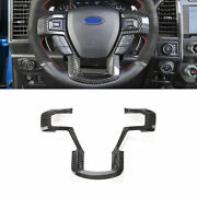 Real Carbon Fiber Steering Wheel Strip Cover Trim For Ford F150 F-150 2015-2020