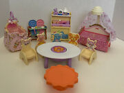 ❤️fisher Price Loving Family Dollhouse Lot Of Furniture Nursery,beds,table,chair