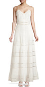Alice + Olivia Meg Dress Maxi White Summer Cotton Casual New With Tags S/4