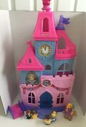 Fisher-price Little People Disney Princess Magical Wand Palace Castle W/ 6 Fig