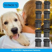 20 Pack R21/r22/r51 Replacement Batteries For Invisible Fence Dog Collar