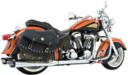 Freedom Dual Exhaust System With 4in Racing Muffler Chrome W/black Caps In00003