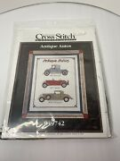 Vintage Better Homes Andgardens 1995 Cross Stitch Kit 049742 Antique Autos Sealed