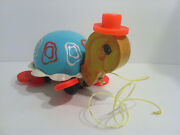 Fisher Price Vintage Tip Toe Turtle Pull Along Toy 1962 - Fp009