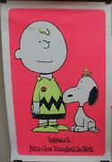 Schulz Charlie Brown And Snoopy Peanuts Happiness Peace And Love Poster