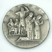 Rare Society Of Medalists 28 Fine Silver Medal Four Freedoms Carl L. Schmitz
