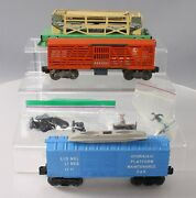 Lionel 3656 Cattle Car And Corral And 357 Hydraulic Platform Maintenance Car