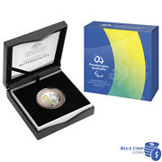 2020 5 Australian Paralympic Bimetallic Selectively Gold Plated Proof Coin