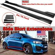 Fit Bmw F30 F80 M3 F82 M4 78.8and039and039 Carbon Fiber Side Skirts Rocker Panel Splitters