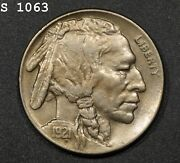 1921-s Buffalo Nickel Au+ Free S/h After 1st Item