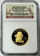 2007 W Gold Us 10 Jeffersons Liberty Spouse 1/2 Oz Proof Coin Ngc Pf 70 Uc