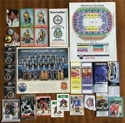 Ultra Hockey Lot Vintage Sports Cards And Unopened Packs Ticket Stubs And Other...