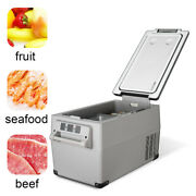 Portable Car Fridge Freezer Cooler 37qt/35l Mini Refrigerator 12/24v Travel 13kg