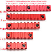 3/5/7/9/11/13 Slot Picatinny Rail Section Fit Both Keymod And M-lok System_new Red