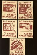 1936 National Chicle R344 Rabbit Maranville How To 9 Different Vgex/ex