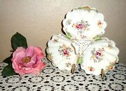 Chic And Gorgeous Vintage Hollywood Regency 1940and039s Triple Serving Candy Dish