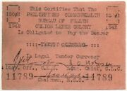 Philippines Culion Leper Colony 50/20 Clear Typing Error S244x Only 16k Known