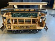 Wood And Cast Iron French Double Decker Street Trolley, Vintage, 1930, Beautiful