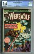Werewolf By Night 33 Cgc 9.6 Ow/wh Pages // 2nd Appearance Moon Knight 1975