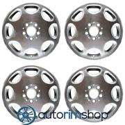 Mercedes E300d 16 Factory Oem Wheels Rims Set Polished With Silver