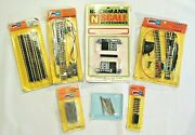 Vintage Nos Bachmann And Atlas N Scale Turnouts Bumper Crossing Rail Joiners Track