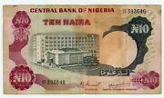 Nigeria Andhellip P-17d Andhellip 10 Naira Andhellip Nd 1937-78 Andhellip F ... Sign 4-key Note.