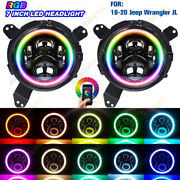 2x 7and039and039 Mount Bracket Ring 7and039and039 Rgb Led Headlights For Jeep Wrangler Jl Jlu 18-20