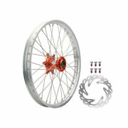 Tusk Impact Complete Front Wheel Package 21 X 1.60 Silver Rim/silver