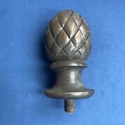 Vintage Wood Artichoke Newel Post Finial 6 3/4 Tall Architectural Salvage