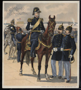Victorian Trade Card 1880s J And P Coats Six Cord Thread Cotton Army Vtc-c190
