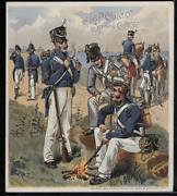 Victorian Trade Card 1880s J And P Coats Six Cord Thread Cotton Army Vtc-c194