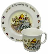 Royal Doulton China Classic Winnie The Pooh Child Christening Set Cup Plate